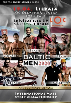 BALTIC MEN 2020. International Male Strip Championship