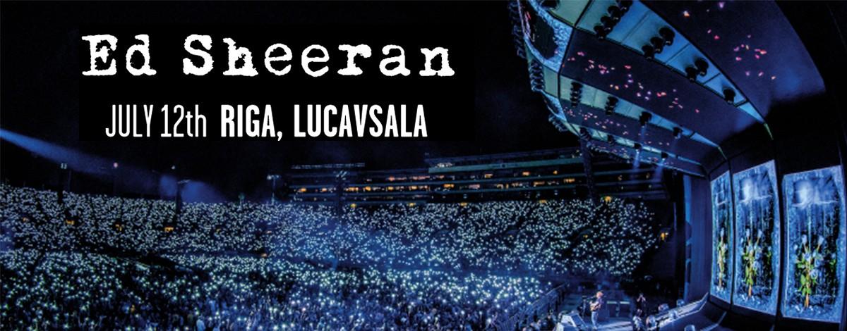 The sensational Ed Sheeran will perform in Riga next summer