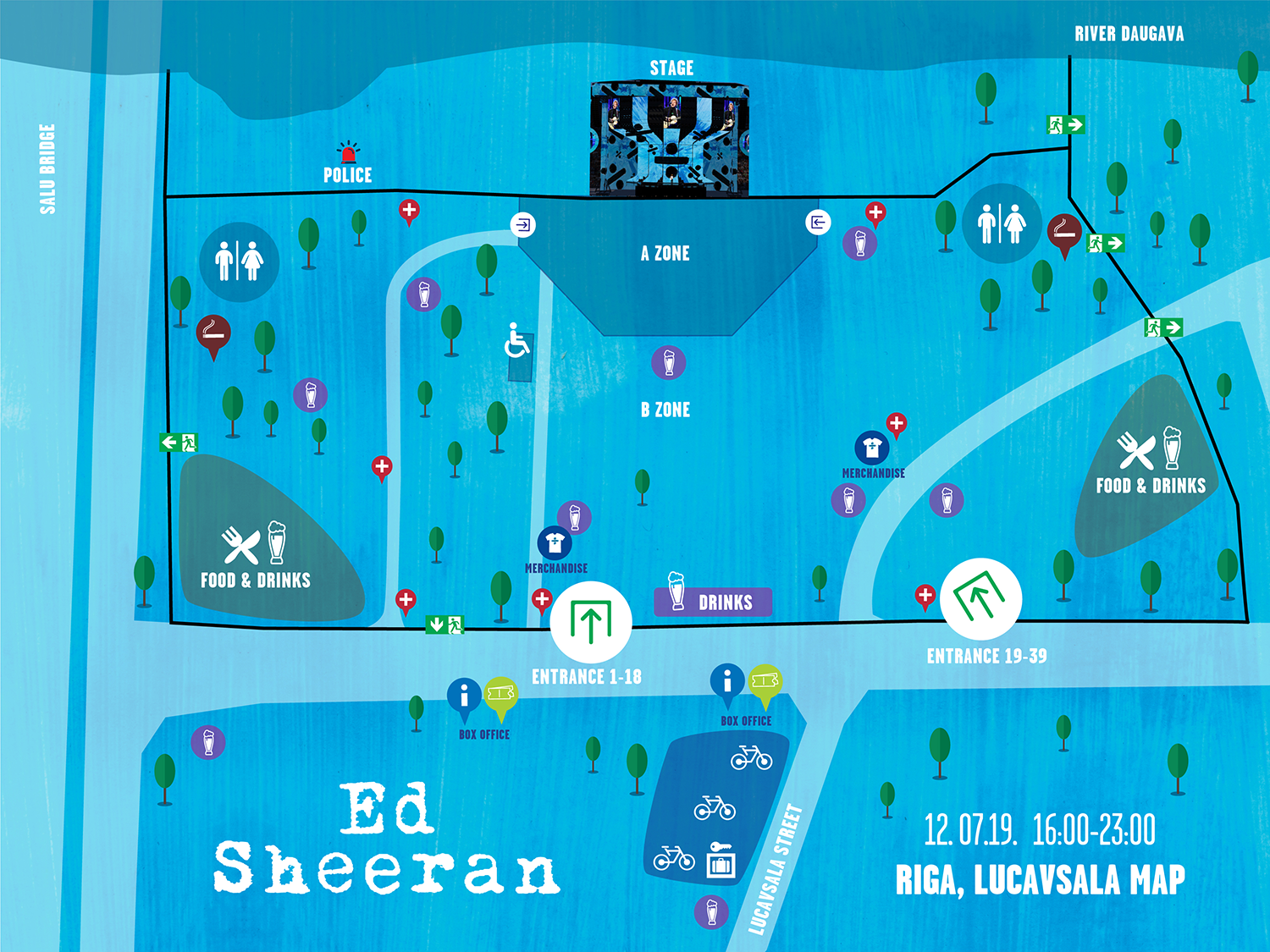 Essential information for visitors of Ed Sheeran concert